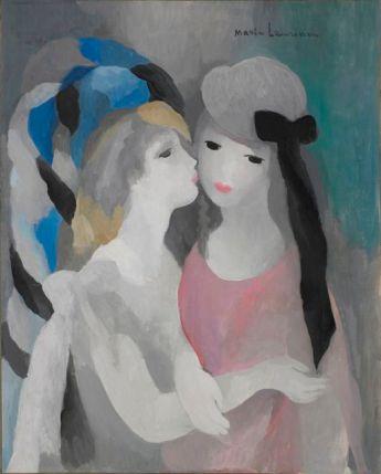 Marie Laurencin, Le baiser, vers 1927©Adagp, Paris 2012